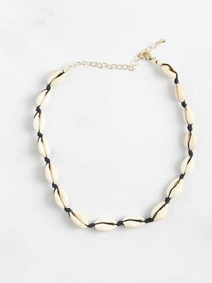 Cowry Shell Choker Necklace - Black - Altar'd State