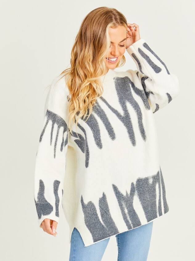 Spray Painted Oversized Sweater Detail 4 - Altar'd State