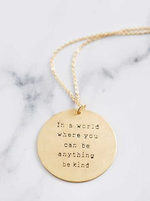 Be Kind Necklace - Altar'd State
