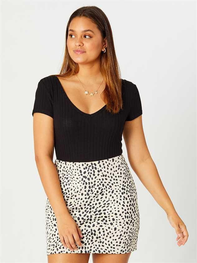 Rainey Dalmatian Skirt - Altar'd State