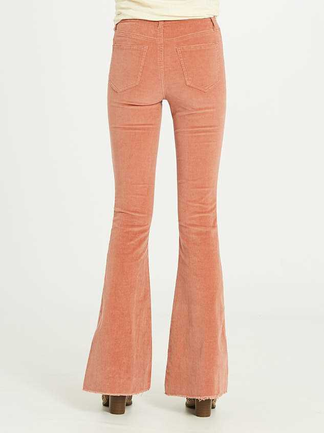 Sienna Cord Flare Pants Detail 5 - Altar'd State