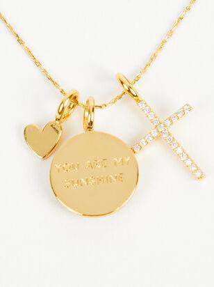 18k Gold Sunshine Coin Charm - Altar'd State