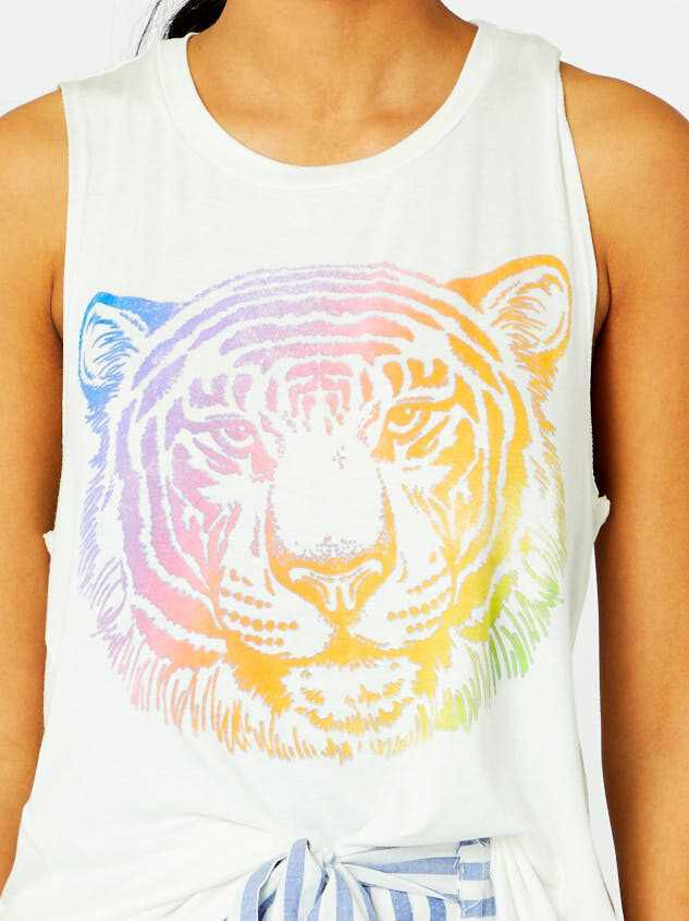Rainbow Tiger Top Detail 5 - Altar'd State