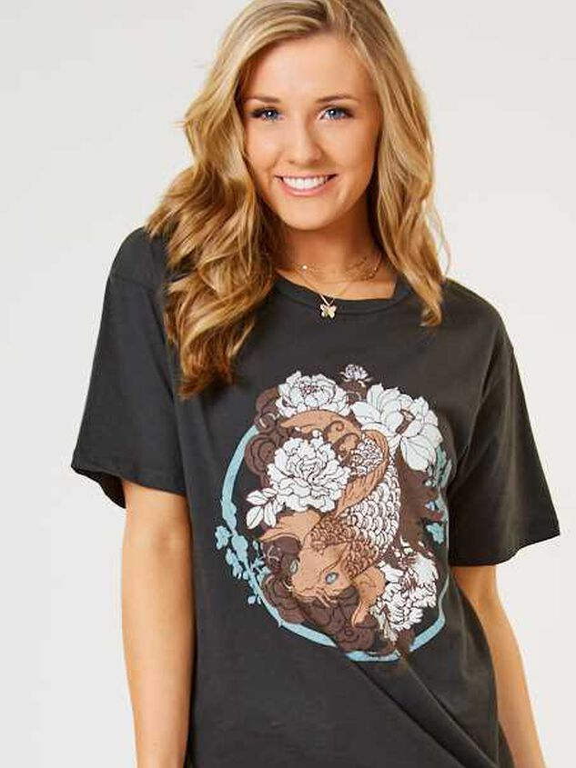 Koi Fish Oversized Top - Altar'd State