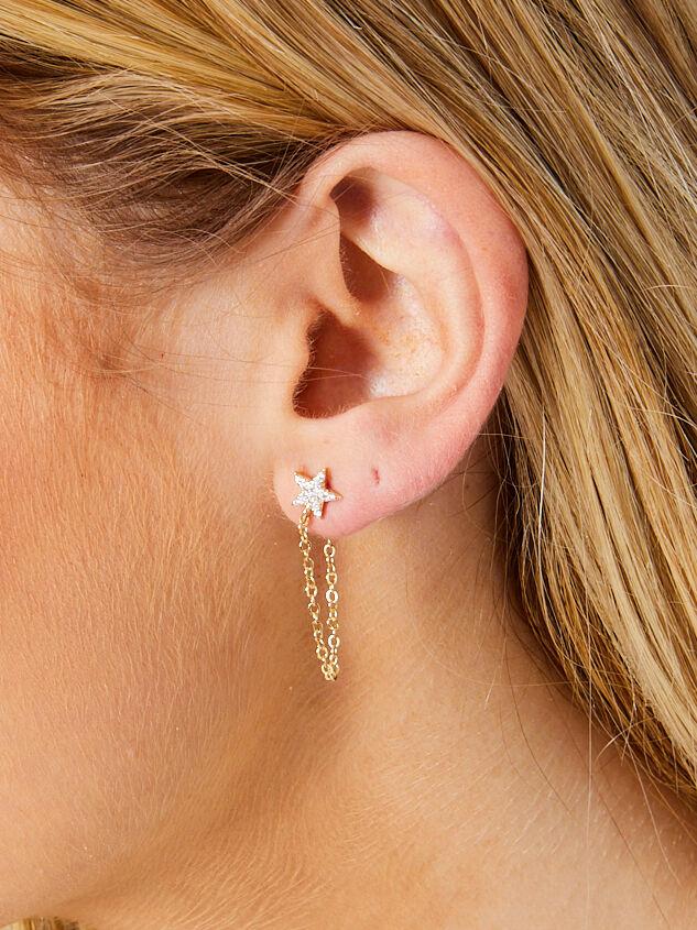 Star Chain Hoop Earrings Detail 2 - Altar'd State