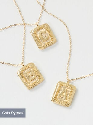 The Monogram Initial Necklace - Altar'd State