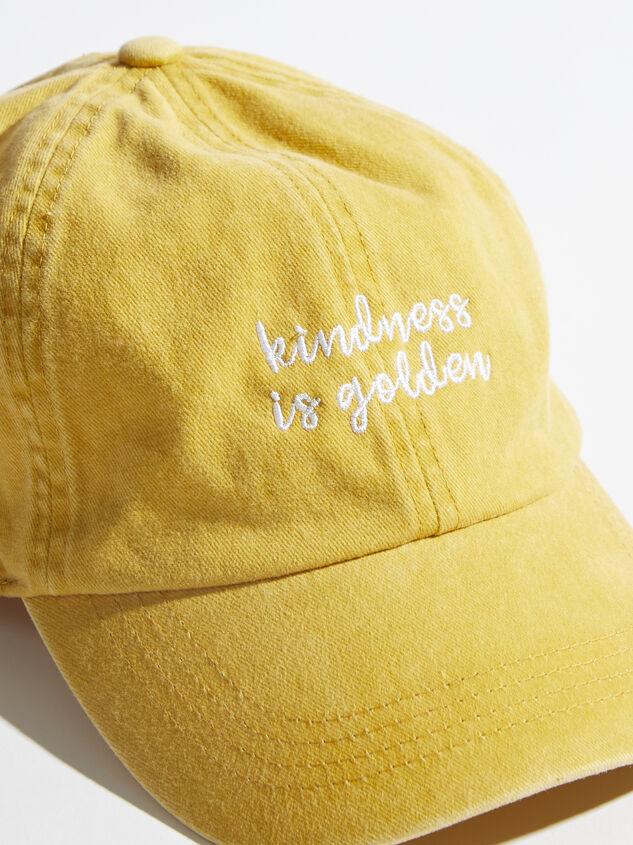 Kindness is Golden Baseball Hat Detail 2 - Altar'd State