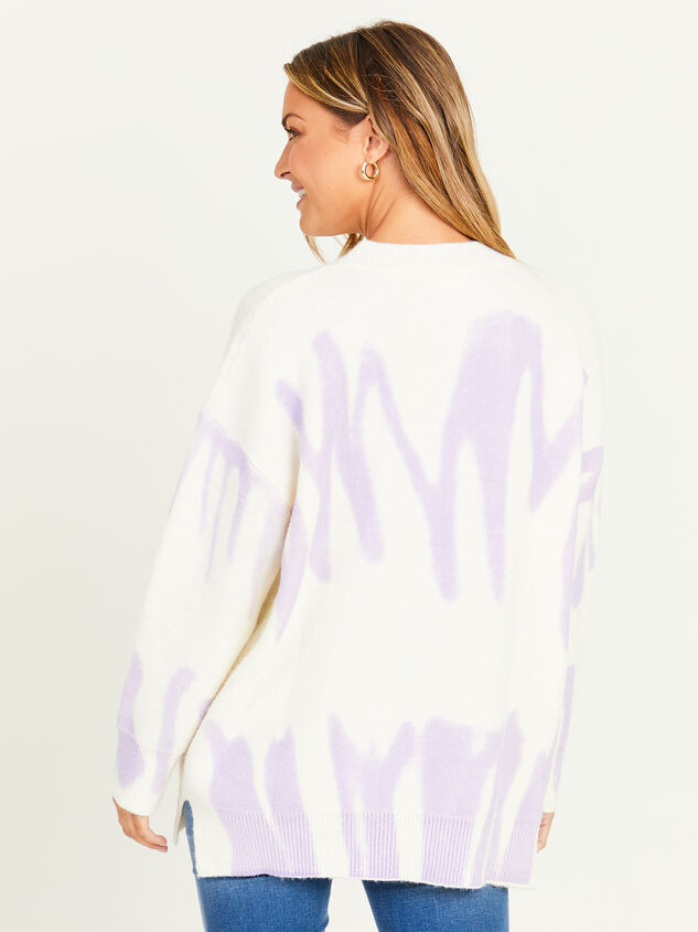 Spray Painted Oversized Sweater Detail 2 - Altar'd State