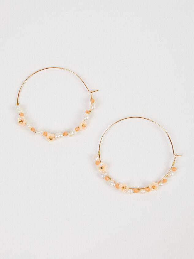 Dahlia Hoop Earrings - Blush - Altar'd State