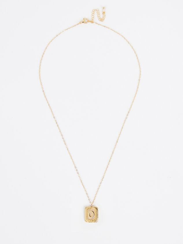 Burst Tag Monogram Necklace - O Detail 2 - Altar'd State