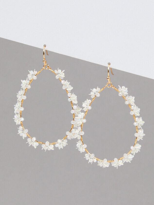 Poet Earrings - White - Altar'd State