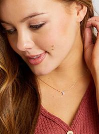 Rhinestone Initial Necklace – E Detail 3 - Altar'd State