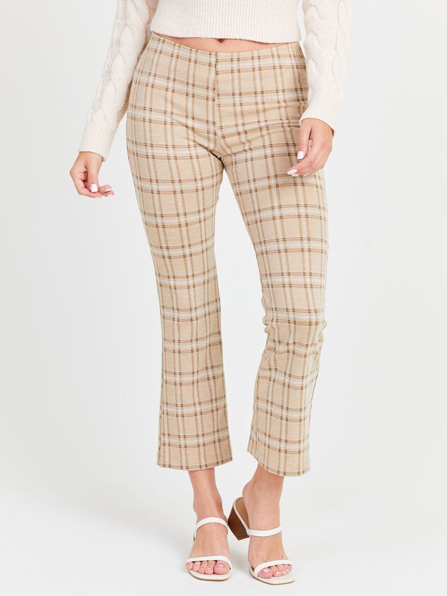 Cropped Plaid Kick Flare Pants - Altar'd State