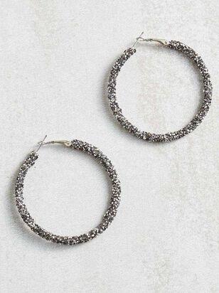 Rock Paper Wrapped Hoop Earrings - Altar'd State