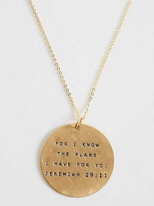 For I Know the Plans Necklace - Altar'd State