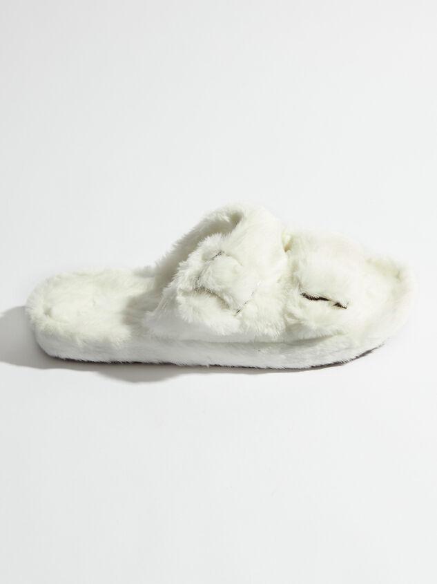 Double Buckle Fur Slides Detail 2 - Altar'd State