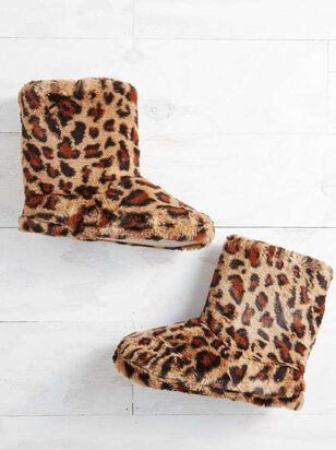 Leopard Bootie Slippers - Altar'd State