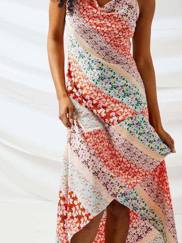 Carlie Patchwork Maxi Dress Detail 4 - Altar'd State