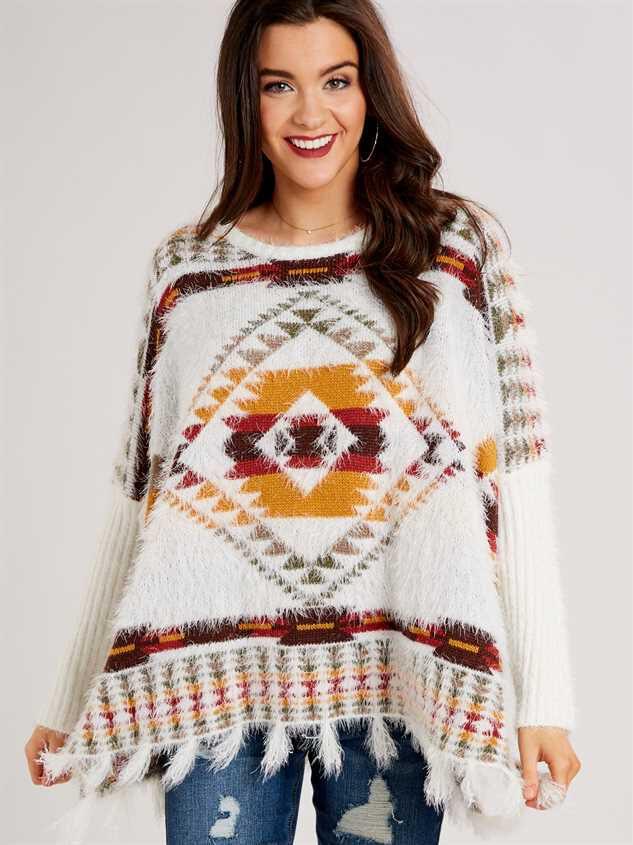 Lovely Lash Tribal Sweater Detail 2 - Altar'd State