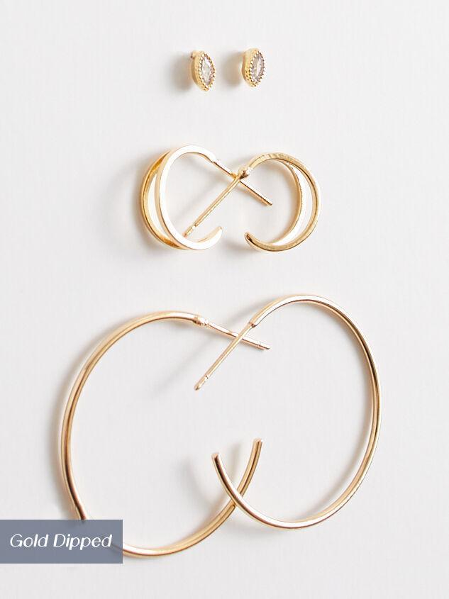 Kara Mini Hoop Earring Set - Altar'd State