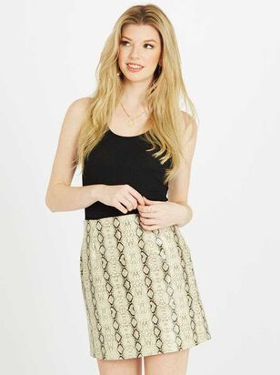 Snakeskin Leather Skirt - Altar'd State