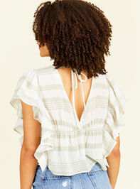 Sloan Striped Top Detail 2 - Altar'd State