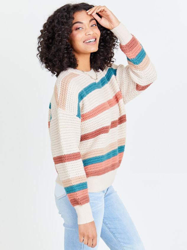 Rainbow Crochet Pullover Detail 3 - Altar'd State