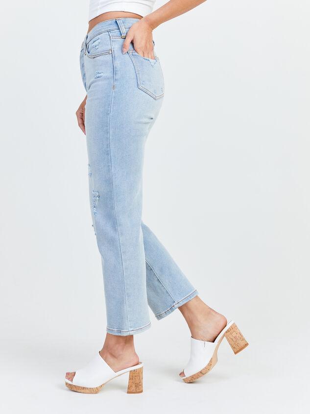 Crystal Beach Straight Leg Jeans Detail 3 - Altar'd State