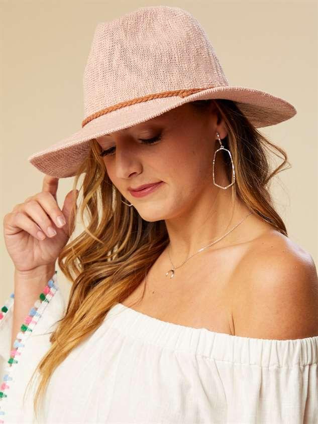 Panama Hat - Blush Detail 2 - Altar'd State