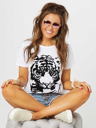 Flocked Tiger Top - Altar'd State