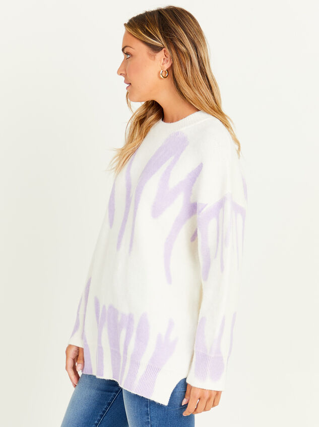 Spray Painted Oversized Sweater Detail 3 - Altar'd State
