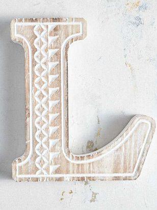 Wooden Monogram Letter Block - L - Altar'd State