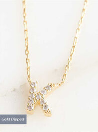 Rhinestone Initial Necklace – K - Altar'd State
