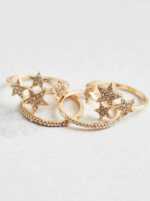 Sparkle Star Ring Set - Altar'd State
