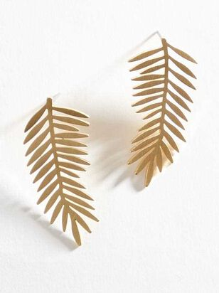Brushed Palm Earrings - Altar'd State