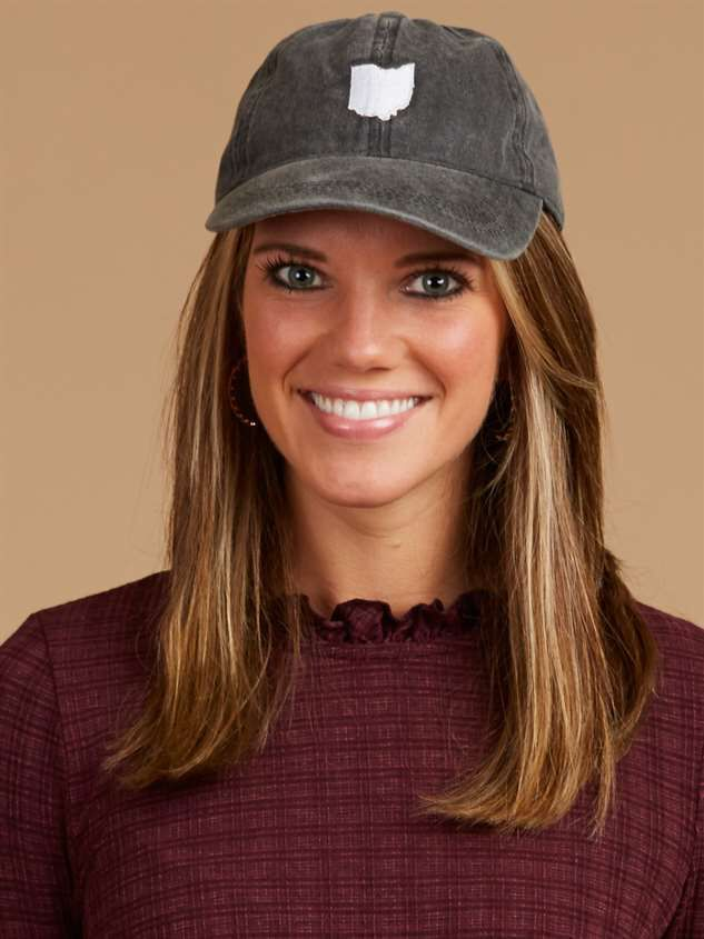 Our Home Canvas Baseball Hat – Ohio Detail 2 - Altar'd State