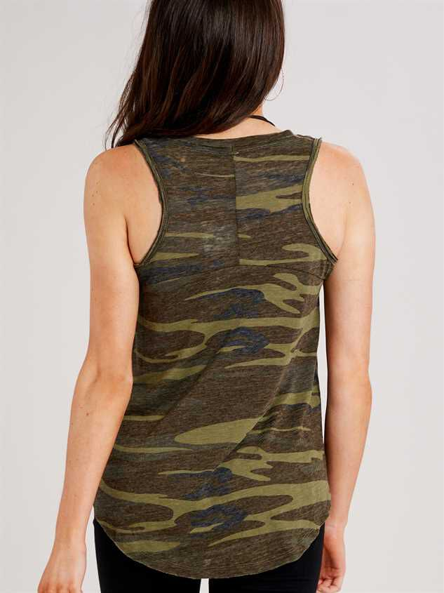 Favorite Fit Camo Tank Detail 3 - Altar'd State
