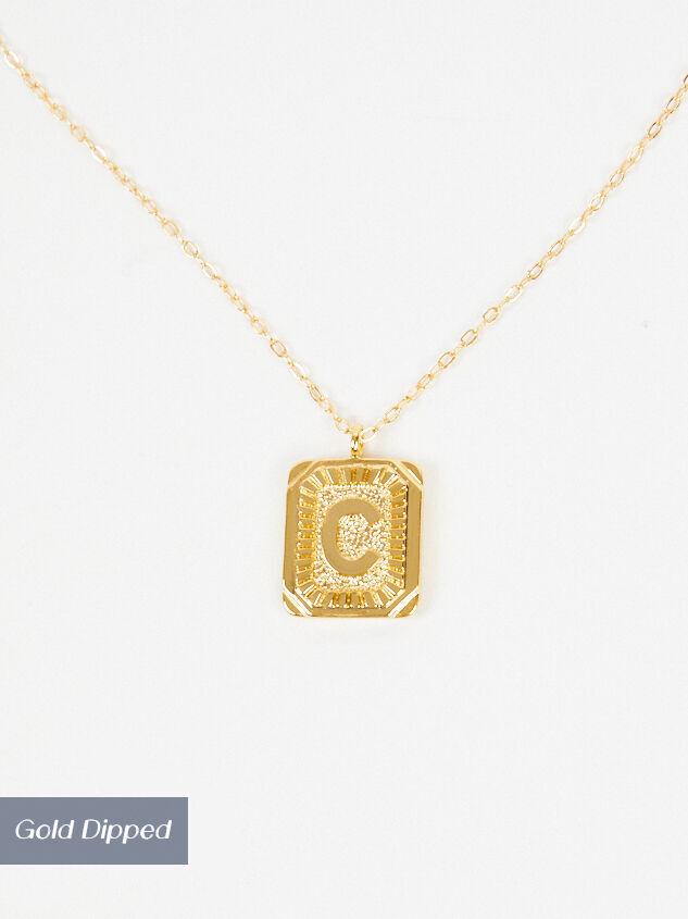 Burst Tag Monogram Necklace  - C - Altar'd State