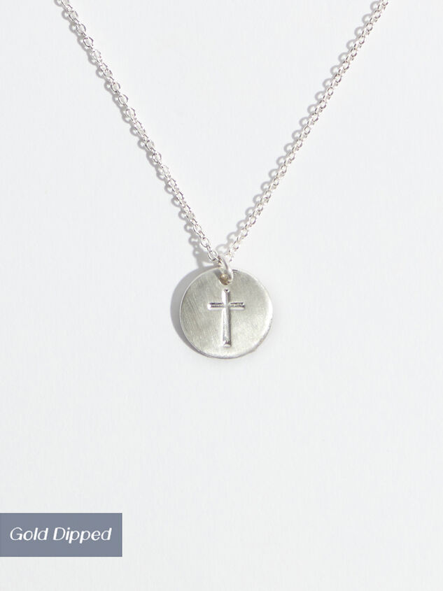 Engraved Cross Necklace - Silver Detail 1 - Altar'd State