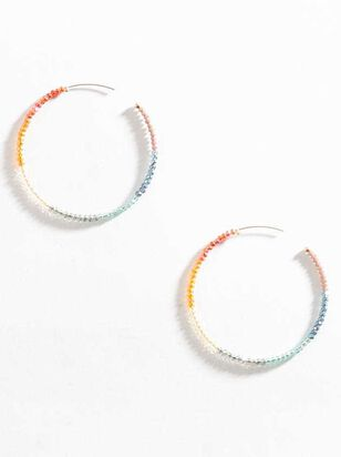 End of the Rainbow Hoop Earrings - Altar'd State