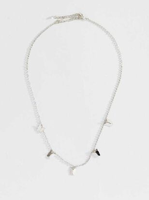 Butterfly Charm Necklace - Silver - Altar'd State