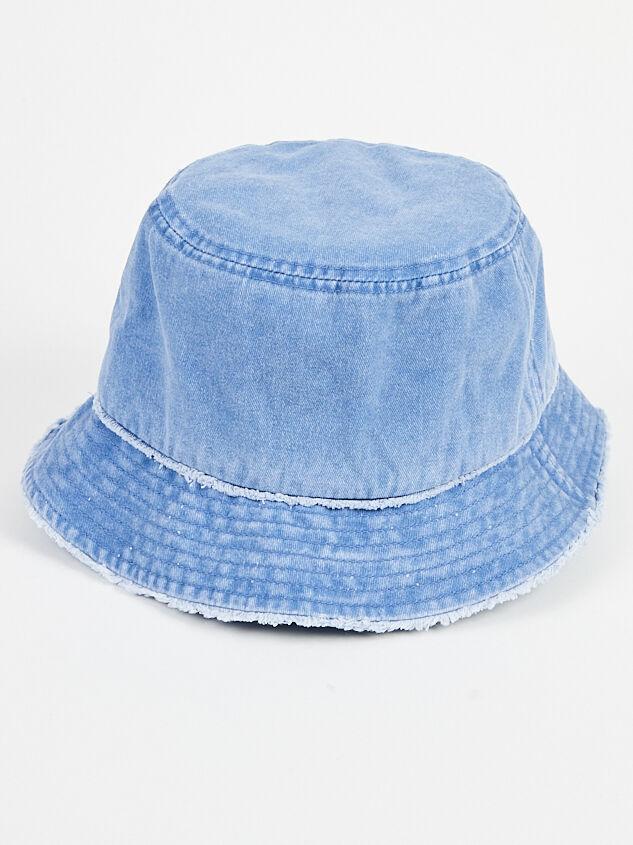 Distressed Denim Bucket Hat - Altar'd State