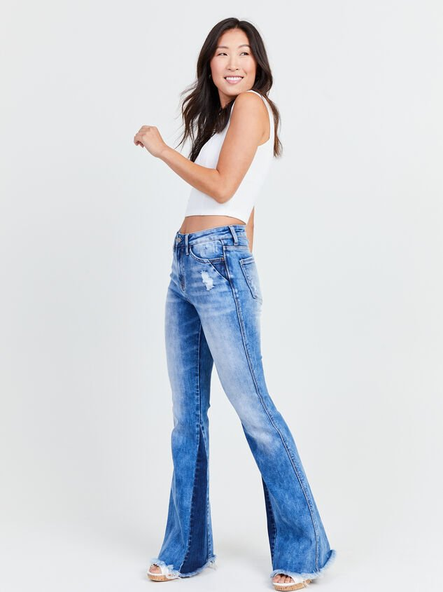 Katy Flare Jeans Detail 1 - Altar'd State