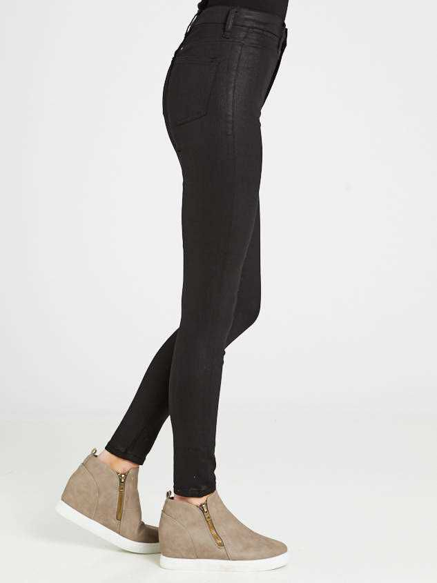 Coated Skinny Jeans Detail 3 - Altar'd State