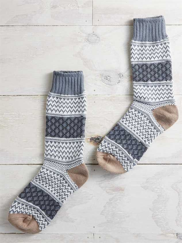 Fuzzy Gallery Crew Sock - Altar'd State
