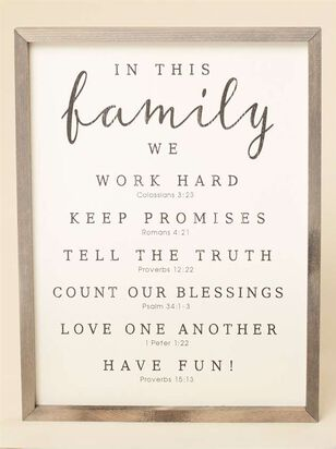 In This Family Wall Art - Altar'd State