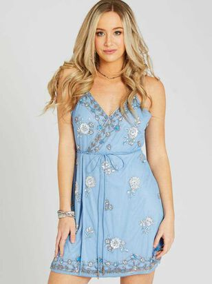 Grace Dress - Light Blue - Altar'd State