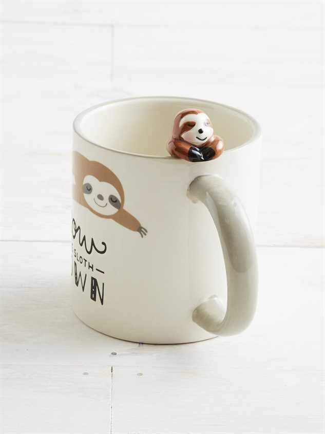 Slow the Sloth Down Mug Detail 2 - Altar'd State