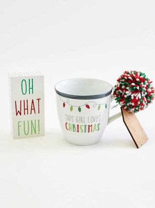 Love Christmas Mug and Block Gift Set - Altar'd State