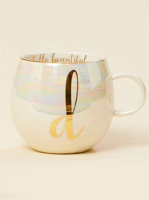 Hello Beautiful Iridescent Monogram Mug - D - Altar'd State